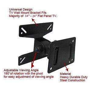Универсальный вращающийся на 180 градусов VESA 14-24 дюйма 50-400 мм Прочный Стальной светодиодный ЖК-дисплей Falt панель Plasma TV настенный кронштейн