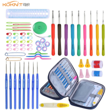 68 Pcs/Set KOKNIT Crochet Hooks Set With Storage Bag DIY Craft Sewing Tool Knitting Needles Tools