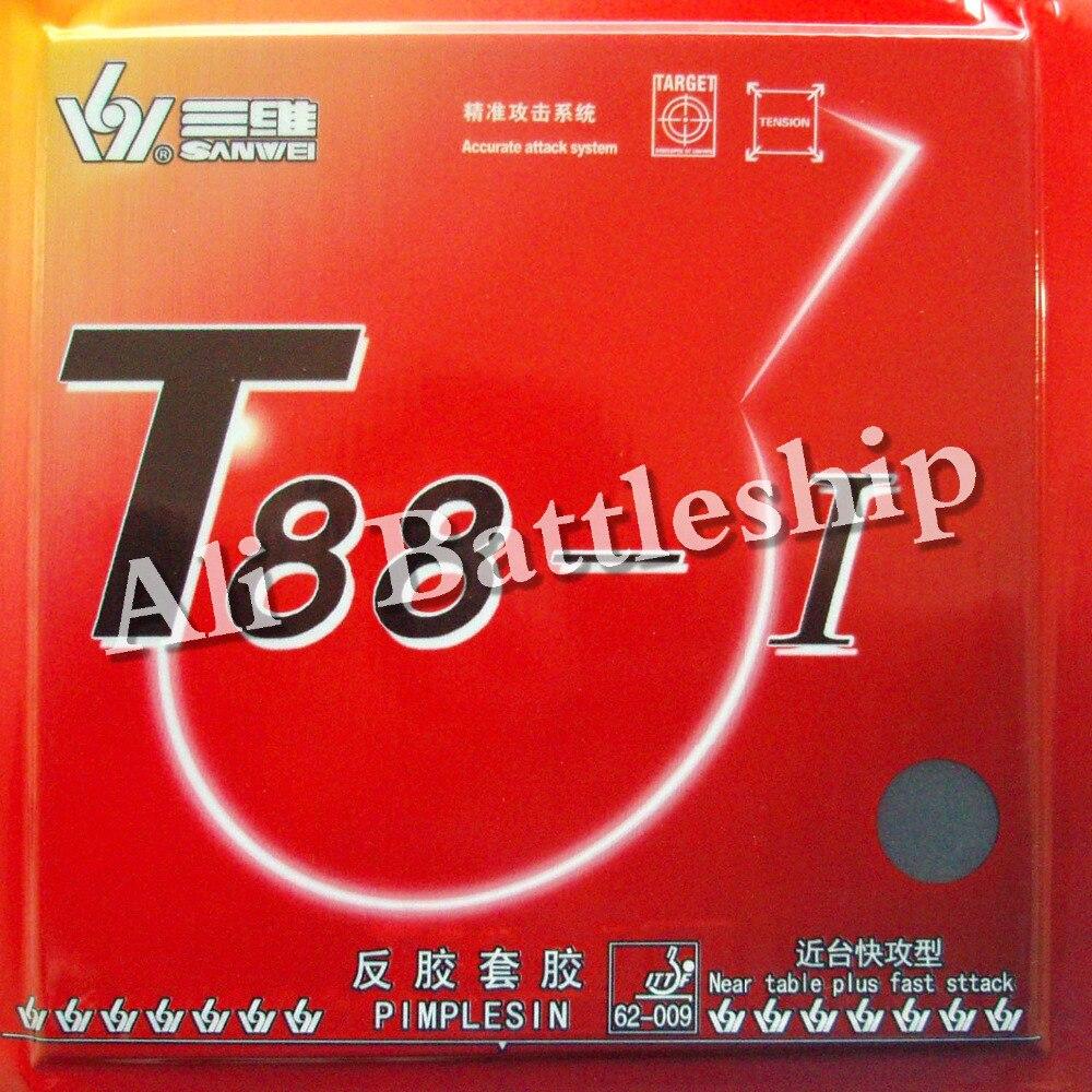 T88-I Sanwei Original T88 1 pips-en caoutchouc de ping-pong de ping-pong avec l'éponge