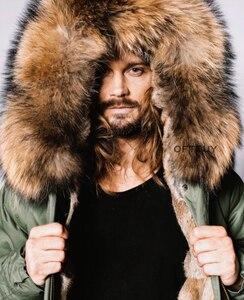 Image 3 - OFTBUY 2020 Plus Size Winter Jacket Men Parka Real Fur Coat Big Natural Raccoon Fur Collar Hood Thick Warm Outerwear Streetwear