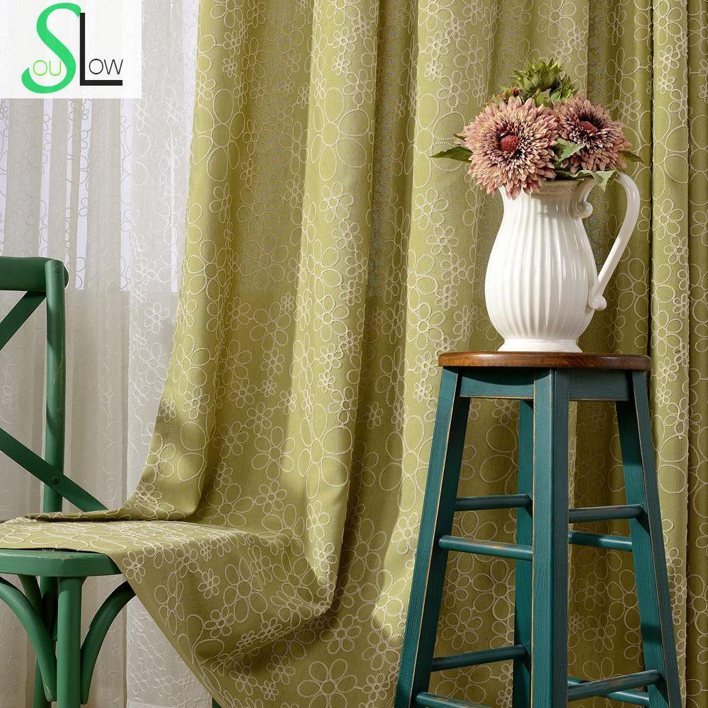 Colorful Living Room Curtains: Colorful Cotton Embroidered Curtain French Window Floral