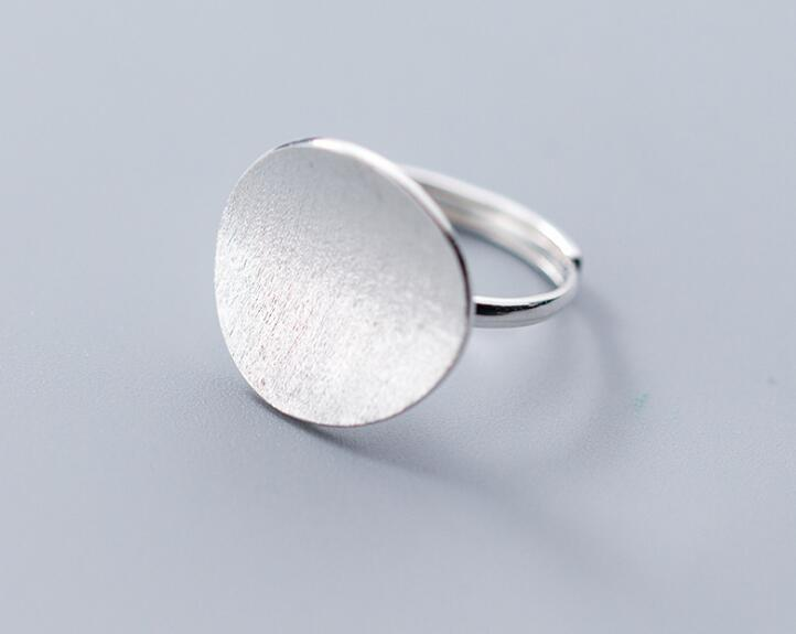 1pc  100% Authentic REAL.925 Sterling Silver Fine Jewelry Geometric Ring Openable adjustable GTLJ1440