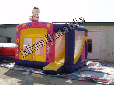 Inflatable Combo(Bouncy And Slide Combo) Hello Kitty commercial hello kitty inflatable castle slide combo with pool and free ce blower