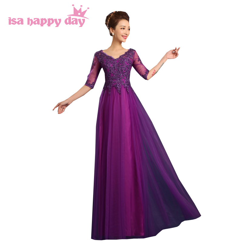 ladies elegant purple party   dresses   girl size 4 lace tulle long pageant   evening     dress   formal gowns for women ball gown H3575
