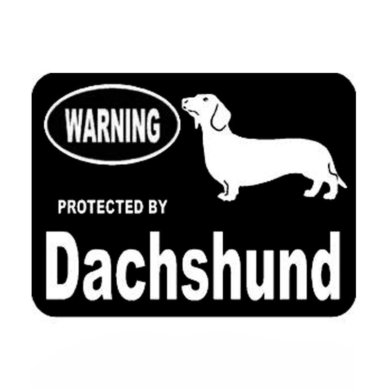13.3cm*10cm Car Styling Animal Protected By Dachshund Vinyl Car Stickers Accessories C5-1933