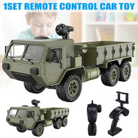 1/16 2.4G 6WD RC Car Proportional Control Army Military Truck Model Toys Kids Gift M09