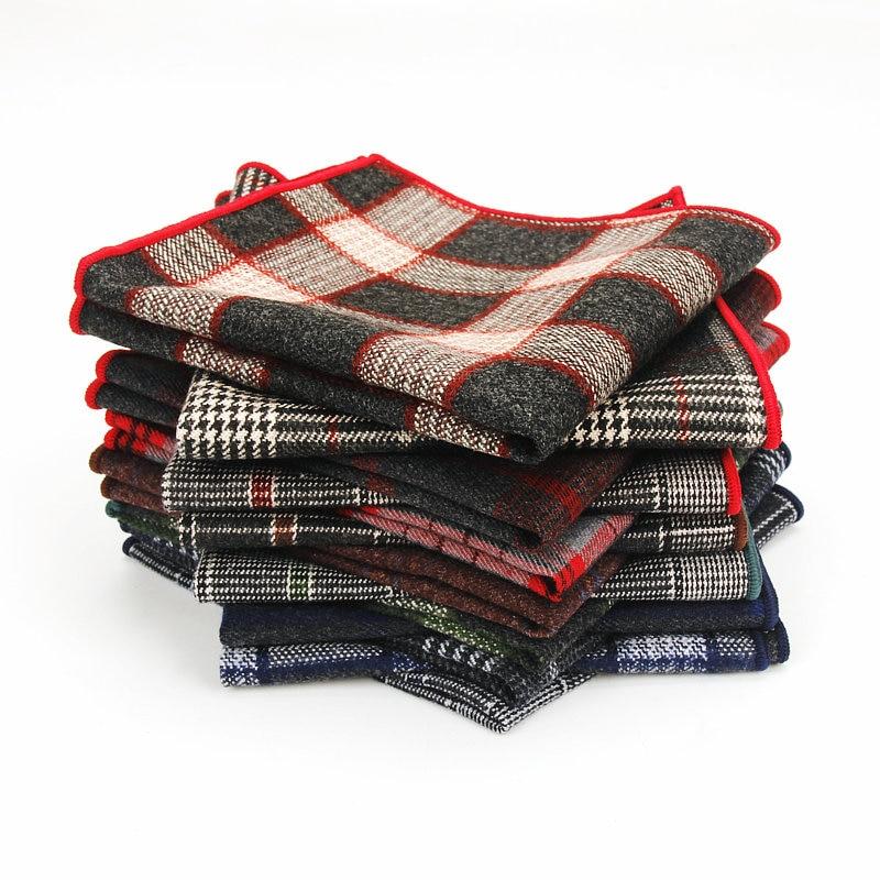 Brand New Men's Cotton Hankerchief Scarves Vintage Hankies Men Pocket Square Handkerchiefs For Man Wedding Suits Pocket Squares