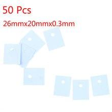50 pçs/lote TO-3P silicone almofada térmica folhas transistor isolamento almofada folha isolador de silicone