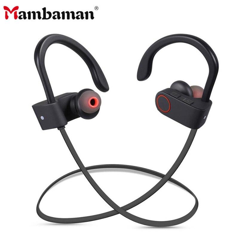 Mambaman BT09 Sports Bluetooth Earphone for Phone Stereo Wireless Headphone Handsfree Gaming Bluetooth Headset for Xiaomi iPhone