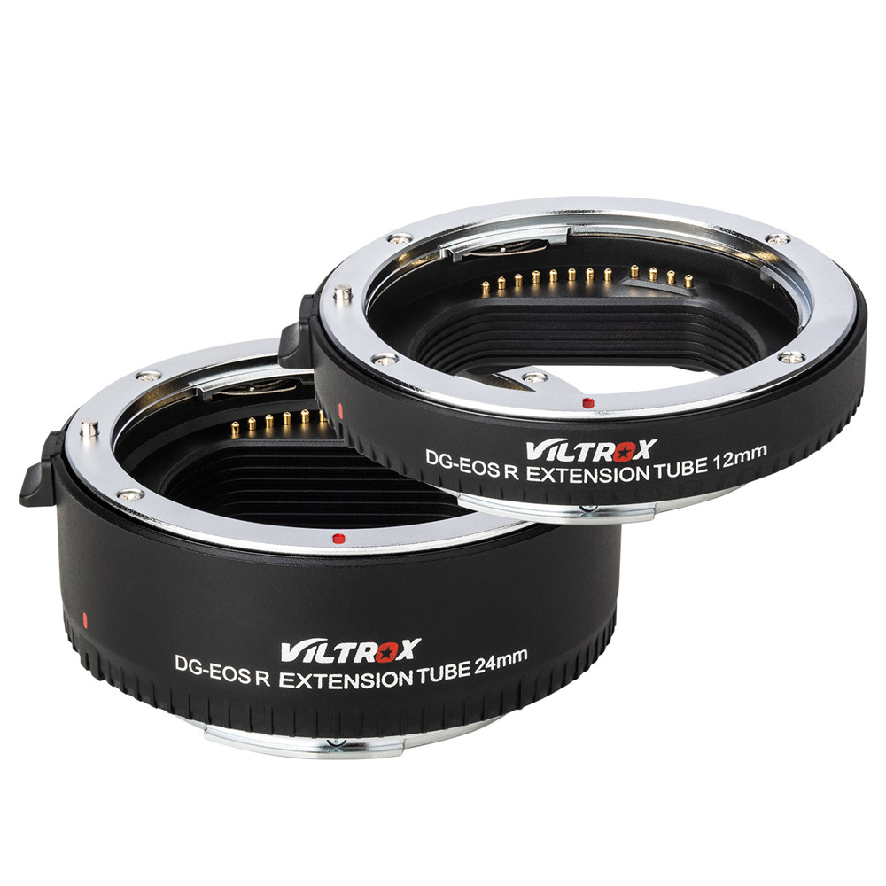 Adaptateur d'objectif de Tube d'extension Macro à mise au point automatique Viltrox DG-EOS R 12mm + 24mm pour objectif Canon EOS R vers appareil photo EOS R/EOS RP