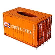 Metal Container Box Removable Tissue Home Decoration Accessories Canister Seat Type Luxury Craft
