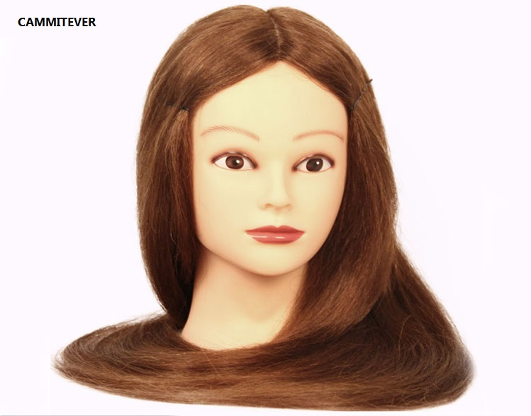 CAMMITEVER 20 Mannequin Head With Blonde Hair Styling Head Wig Heads Hairdressers Hairdressing