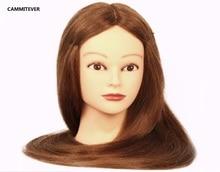 Mannequin Head Blonde Beautiful Hair With Bracket Hairdress Doll Heads Cosmetology Women Hairdresser Manikin Sale
