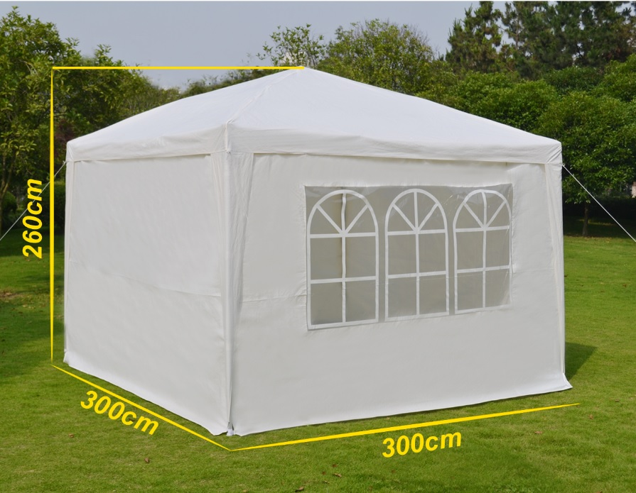 3x3m Outdoor Canopy Party Wedding Tent Heavy duty Gazebo Pavilion Cater Events