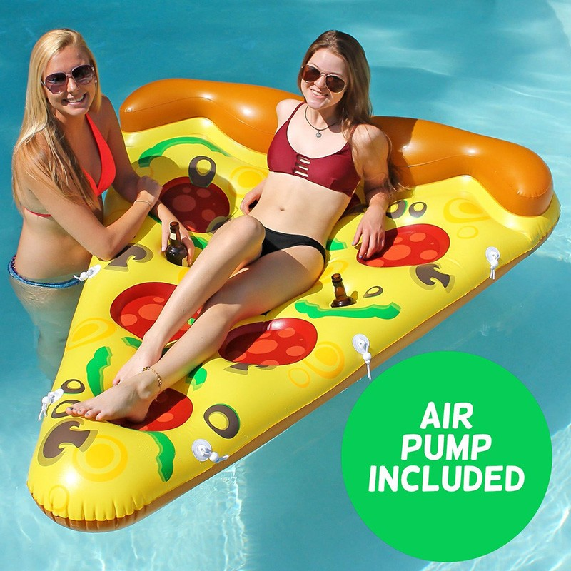 Inflatable Yellow Pizza Pool Toys Float  Inflatable Swimming Rings for Pool Party Favor Summer Holiday Water Air Mattress toys (6)