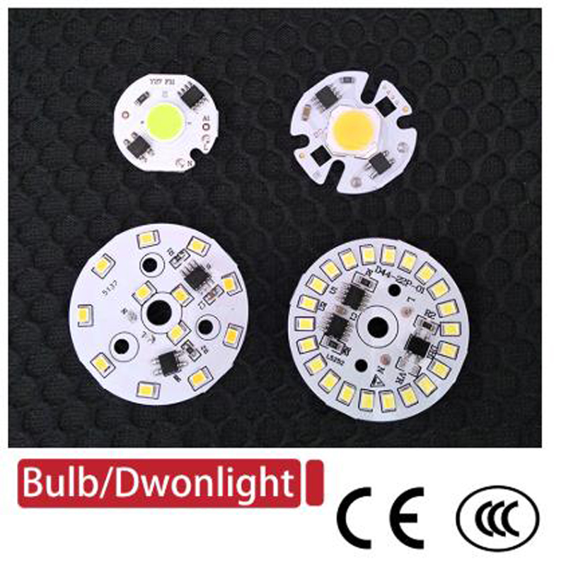 DIY LED Bulb Lamp SMD 12W 9W 7W 5W 3W COB Chip AC220V-240V Input Smart IC Driver Light Beads