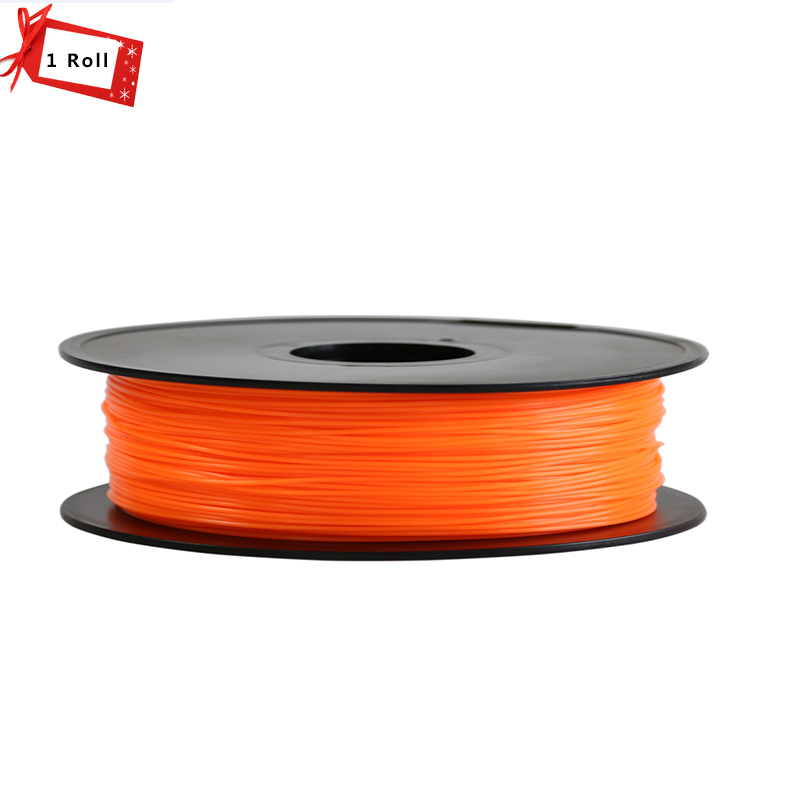 Orange Color 3D Printer Filament 1.75 mm PLA/ABS Materials for 3D Printer 1KG/Roll for 3D printer filament and 3D pen micromake 3d printer filament high quality pla materials 1 75mm for 3d printer 1kg environmental consumable