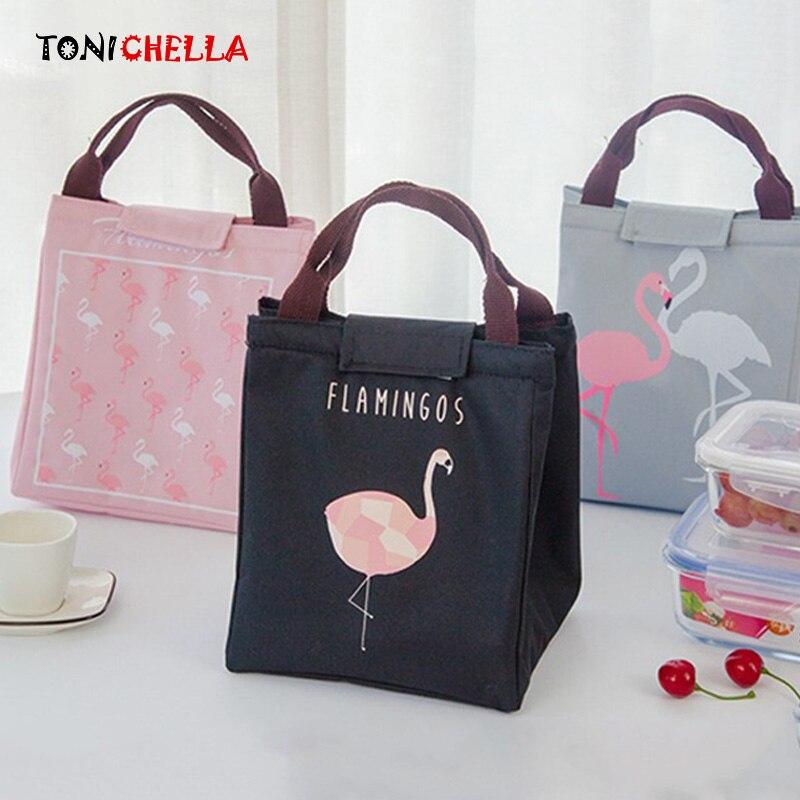 Sacchetto di Isolamento termico Bottiglia di Latte per L'infanzia Tenere In Caldo Flamingo Donna Portatile Cibo Infantile Cibo Latte Materno Scaldino Beach Tote BB5042