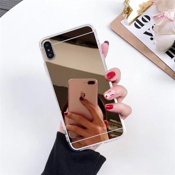 Мягкий зеркальный чехол из ТПУ для Redmi Note 8 Note7 K20 противоударный 4X Note 8pro для Xiaomi 9lite F1 6X A2 силиконовый чехол для телефона - Цвет: Gold