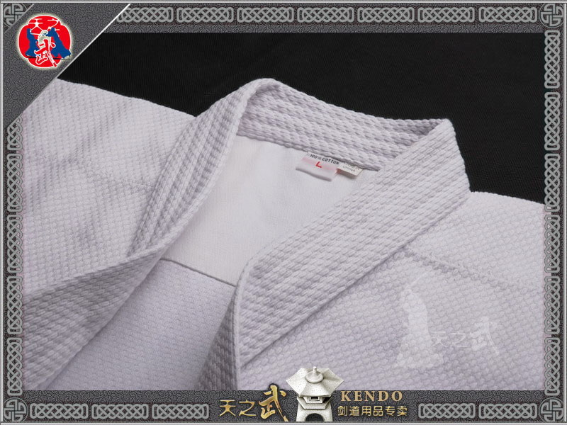 Top Quality White Double Layer Kendo Aikido Iaido Gi 100% Cotton Martial Arts Uniform Sportswear   Dobok Free Shipping цена и фото