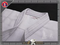 Top Quality White Double Layer Kendo Aikido Iaido Gi 100% Cotton Martial Arts Uniform Sportswear Dobok Free Shipping