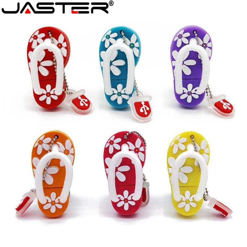 JASTER Summer mini Slipper USB Flash Drive Gift Lovely cartoon pendrive 4GB/8GB/16GB/32GB/64GB usb flash drive memory stick|flash drive memory stick|memory stick|cartoon pendrive - title=