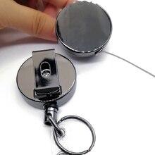 цены на 2PCS Badge Holder Reel Lanyard Heavy Duty Clip Office Name Card Metal Pull Recoil ID Key Ring Belt Keychain Retractable  в интернет-магазинах