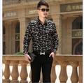 2016 Новое Прибытие Мужская Весна Осень Мода Полосатый Повседневная Бизнес Рубашки С Длинным Рукавом для Мужчин