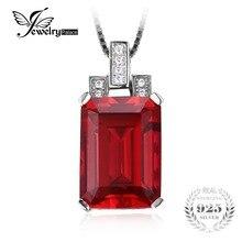 JewelryPalace De Luxe 9.5ct Rouge Créé Ruby 925 Sterling Pendentif En Argent Bijoux pour femmes Pas Inclure la Chaîne(China (Mainland))