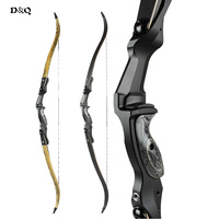 30 50 Lbs Recurve Take Down Bow With 17 Inches CNC Aluminum Riser Engineered Wood For