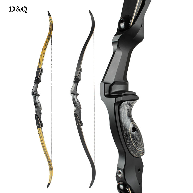 30 50 lbs Recurve Take Down Bow with 17 inches CNC Aluminum Riser & Engineered Wood for Outdoor Hunting Shooting Target Sport