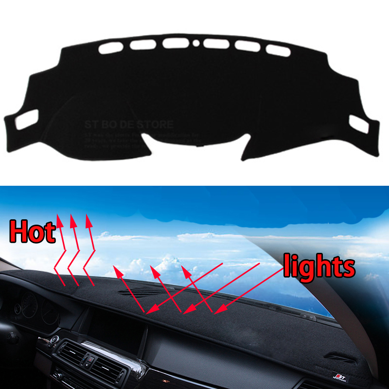Car dashboard Avoid light pad Instrument platform desk cover Mats Carpets Auto accessories car styling for nissan X-Trail xtrail special car trunk mats for toyota all models corolla camry rav4 auris prius yalis avensis 2014 accessories car styling auto