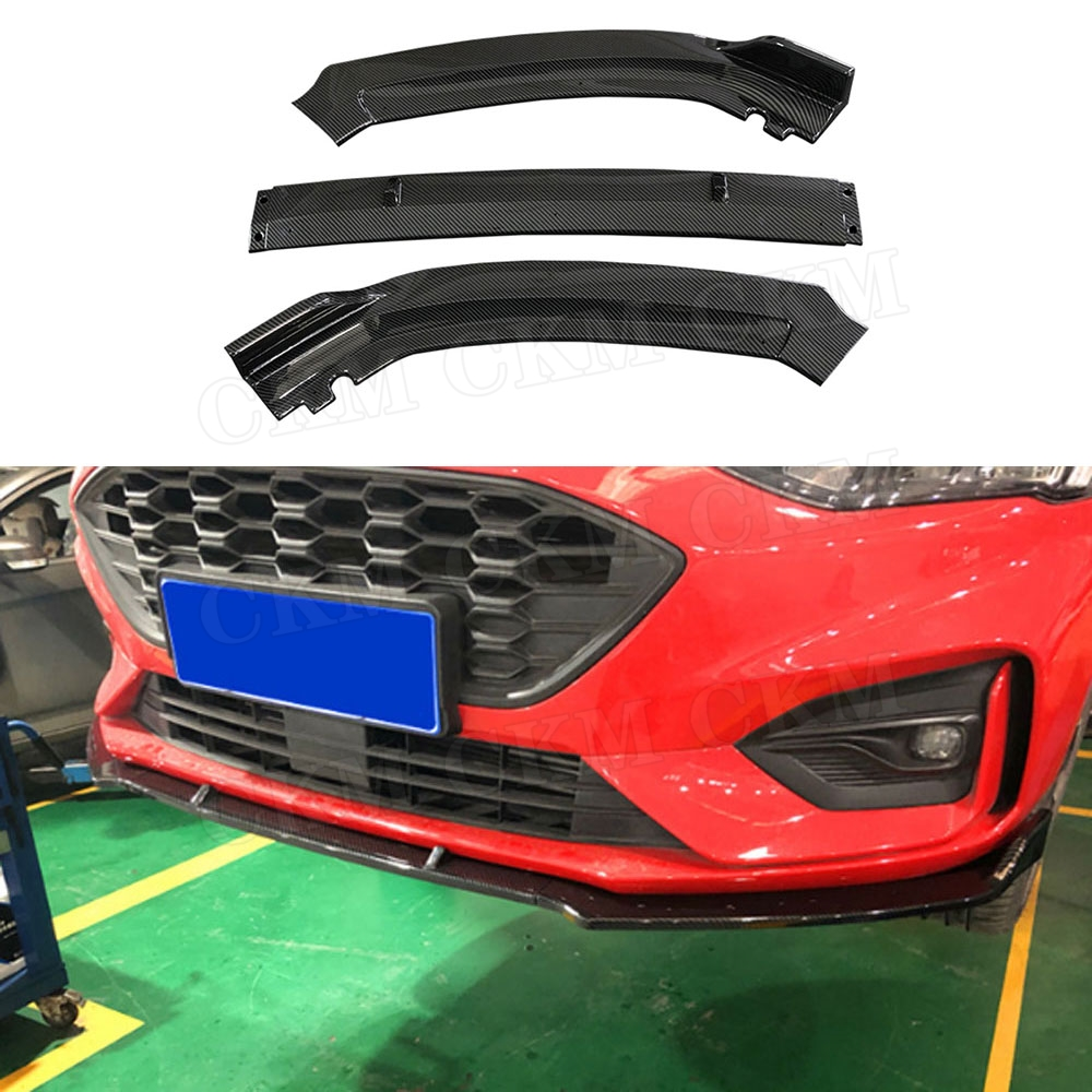 3 PCS Front Bumper Lip Spoiler Splitters For Ford Focus 2019+ Head Chin Shovel lip Protector Car Styling|Bumpers| |  - title=