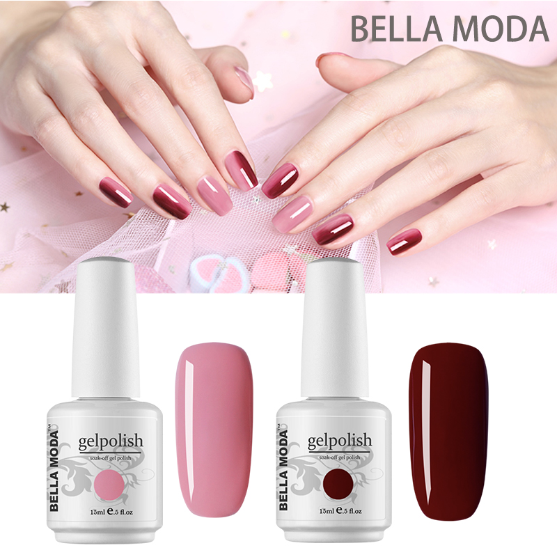 Nail Gel 15ml BELLA MODA Choose Any 24 Colors Nail Art Salon Set & Kits Manicure Soak Off Gel Varnish