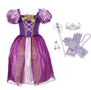 Платье для девочек с героями мультфильмов, платье для дня рождения, косплея, платье принцессы Эльзы, костюм Анны, детская одежда, одежда для ...