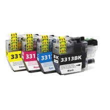Vilaxh 4pcs For Brother lc3313 ink cartridge compatible for DCP-J772DW J491DW  printer