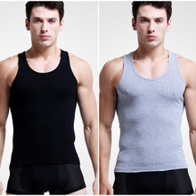 2pcs/lot Sexy Men elasticity Undershirts Solid Color Cotton Underwear Casual Top Vest Shirt Slim Male Undershirt Bottoming Shirt