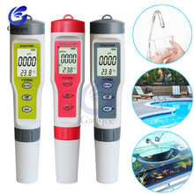Professional PH TDS EC TEMP Temperature Meter Digital Water Quality Monitor Tester for Pools Drinking Water Aquariums Household