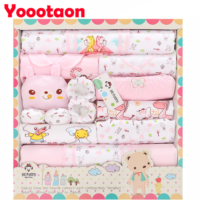100% cotton 18pcs/set New born baby girl/boy Clothing set clothes Lovely Cartoon Spring Summer Newborn girls' clothing sets