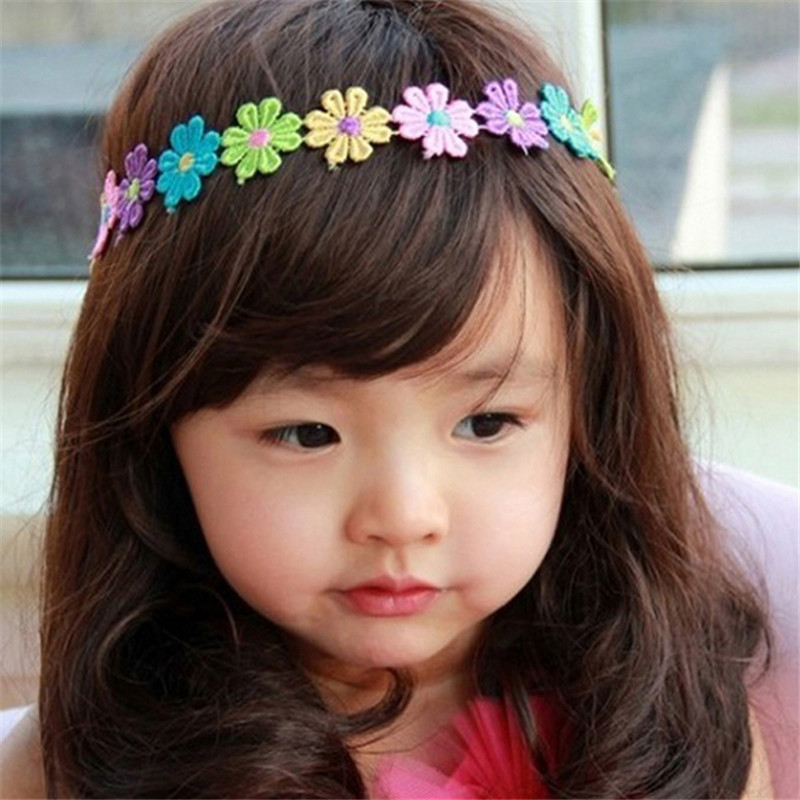 1PC Lovely Cotton Girls Infant Flower Hair Band Soft Headband Style Fotografia Adjustable Hair Accessories Costume Ямча