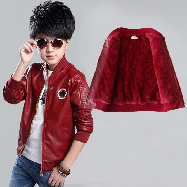 b76e70539 2018 Korean Children Outfits Boys Pu Leather Jackets For Girls Coat ...