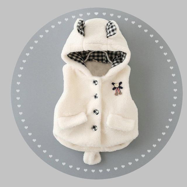 Outono Inverno da Menina Colete Roupas Da Moda Crianças Roupas Menina Coletes Vestuário do Miúdo Bebê Menina Colete