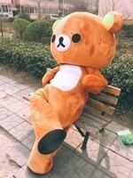 Высокое качество настроить Janpan Rilakkuma Маскоты costumesjanpan Rilakkuma Медведь Маскоты Костюмы