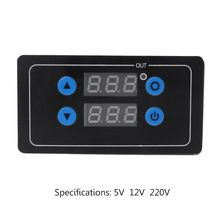 цена на 0.1s - 999h Countdown Timer Programmable Cycle Control Module Time Dalay Relay 5V/12V/220V Optional Voltage