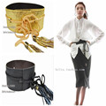 Top Fashion Snake Pu Belts Wide Tassel Lace Up Women Belt Three Colors Black Gold Silver Free Size Modern Accessories 2016