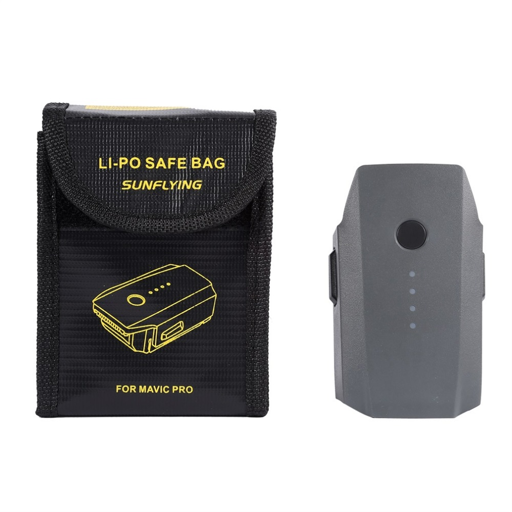 Lipo Safety Guard Bag Resistant Explosionproof Storage Battery Safe Bag Charging & Storage For DJI Mavic Pro Battery