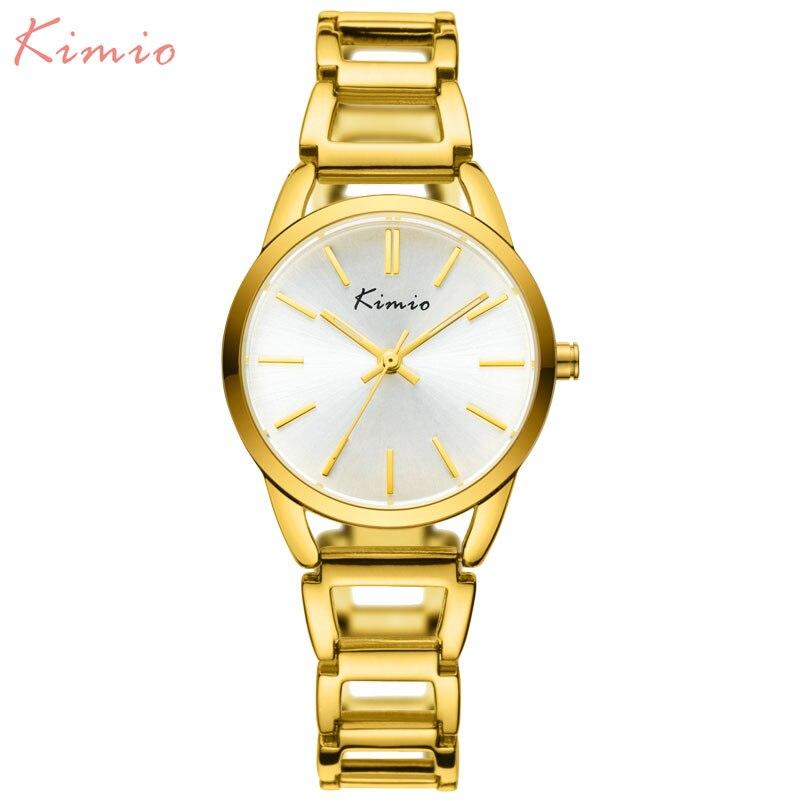 KIMIO Marca de Lujo Relojes de Oro de Acero Inoxidable Señoras de - Relojes para mujeres