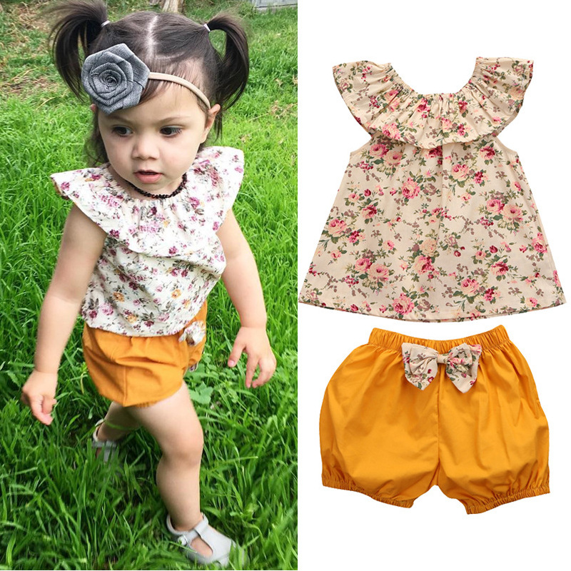 Denim Shorts+headband Outfit Set Children Clothing For Girls Bebek Giyim Reasonable Price Mother & Kids Baby Girl Clothes Baby Kids Girl Polka Dot Vest Top