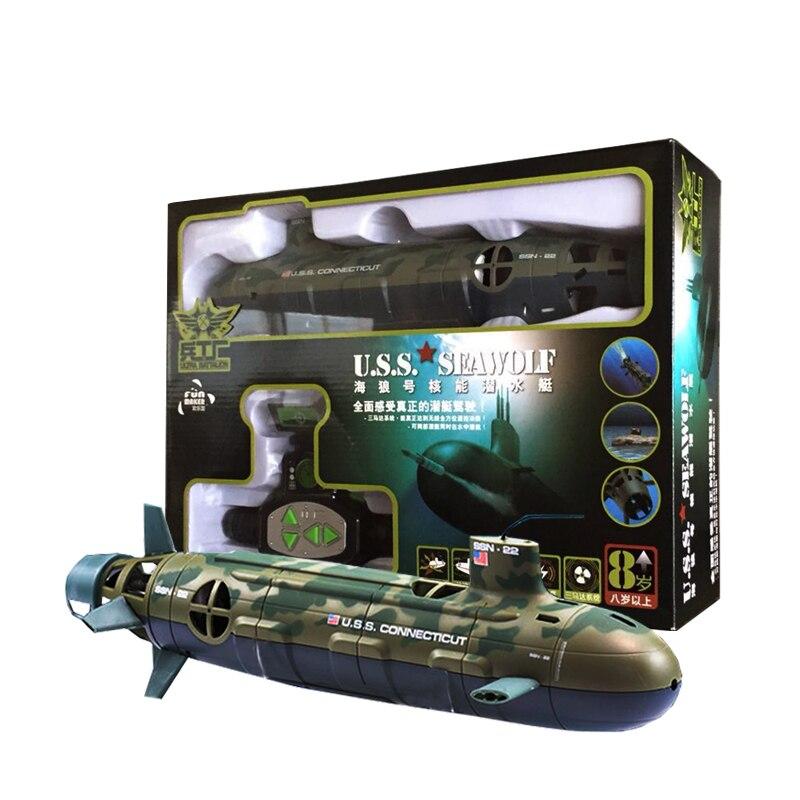 RC субмарина игрушки пульт дистанционного управления submino США Seawolf модель для детей в подарок уличная игрушка