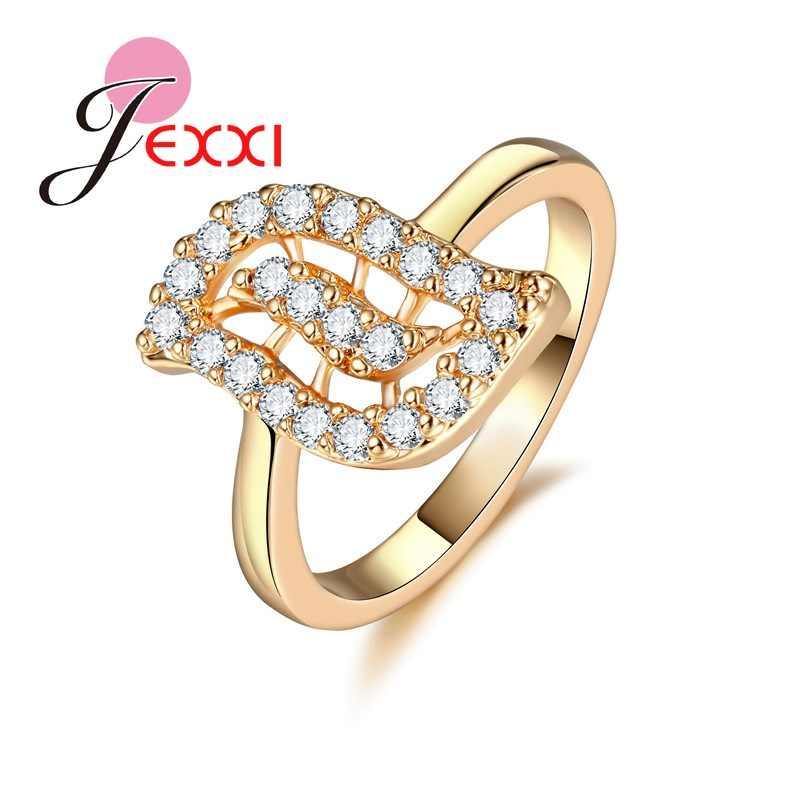 Красота глаз дизайн золотого цвета женские кольца высшее качество Кристалл